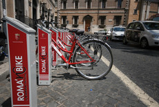 Foto d'archivio di bike sharing