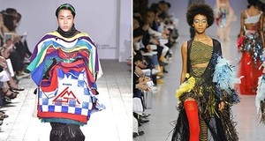 Left, Goom Heo, BA Fashion 2017, and right, Gabriella Sardena, MA Fashion 2017. Graduati alla Central Saint Martins di Londra al top di tutte le classifiche e la più prestigiosa scuola di moda al mondo