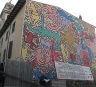 Murale di Keith Haring restaurato a Pisa