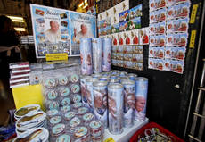 Pope Benedict XVI souvenirs on blowout sale in Rome