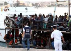 Two boatloads of immigrants land in Lampedusa