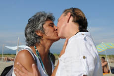 Italy's first openly lesbian MP marries