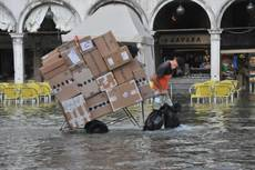 Venice underwater amid seasonal 'high water'