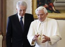 Pope and Monti exchange birthday, name day greetings