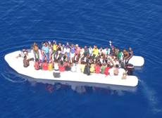 Migrants found adrift 96 miles from lampedusa