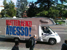 Renzi sets off in camper for centre-left leadership campaign