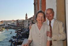 French couple renew 70-year-old marriage vows in Venice