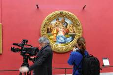 Michelangelo's 'Holy Family' moved to new home in Uffizi