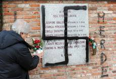 Swastika found on partisan memorial plaque in Turin