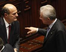 Bersani irked by Monti jab on MPS