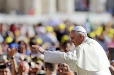 Greed destroys families, individuals, pope says