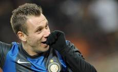 Soccer: Cassano back in Inter squad after bust-up with boss