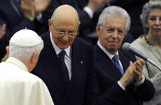 Monti meets Pope on Saturday, Napolitano meets pontiff February 23