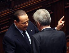 Monti, Berlusconi spar over government record