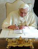 Benedict changes some rites for enthroning new pope