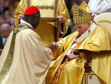 'Campaign' posters for Ghana cardinal hit pre-conclave Rome