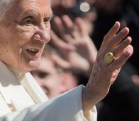 Benedict vows 'unconditional obedience' to next pope