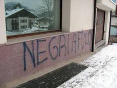 Racist graffiti covers walls of Dolomite resort town Cortina