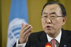 "Ban Ki-moon wants ""peaceful"" resolution in Italy-India row"