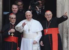 Francis starts first full day as pope