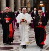 New pope calls on clergy to 'reach out to those in need'