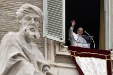 Pope Francis gives first Angelus
