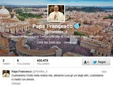 Tweets from papal account after inaugural mass
