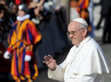 Pope Francis urges protection of material and spiritual poor