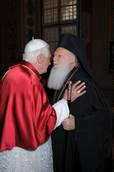 Pope greets Turkish patriarch thanking its Orthodox founder