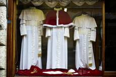 Pope's new clothes go on display in Rome