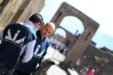 Anti-mafia police carrying out inspections at Pompeii sites