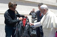 Harley donates two motorcycles, leather jacket to pope