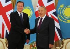 Cameron in Kazakhstan, boom rapporti