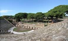 Mausoleum, domus emerge from tin cans at Ostia