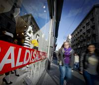 Italians spending half as much on January sales as in 2009