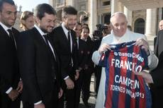 Shout for God as much as soccer goals says pope