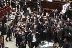 More chaos in parliament with scuffle in commission