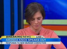 Amanda Knox says she feels 'hit by a train'
