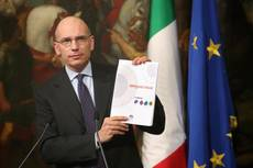 Letta policy pact devoted to economy, reforms, Europe