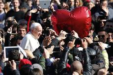 Pope Francis calls 'courtesy' secret of making love last