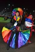 Italian transgender ex-MP in Sochi gay-rights protest