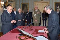 Padoan sworn in as economy industry