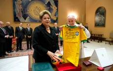 Rousseff reportedly gave pope 'unofficial' Brazil shirt