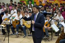 Renzi gets down to 'serious' business at Treviso school