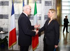 Italian FM meets French EU minister in Rome
