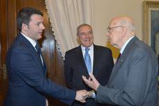 Renzi meets Napolitano to discuss reforms, economy