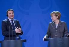 RENZI WINS MERKEL'S CONFIDENCE IN FIRST BILATERAL