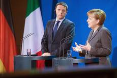 Merkel praises Italian premier for 'courage' with reforms
