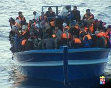 Almost 100 migrants rescued off Calabria