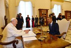 Obama concludes private meeting with pope